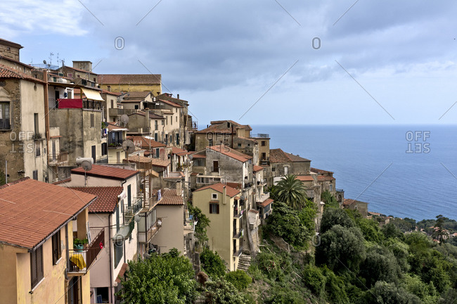 View of a Pisciotta in Italy