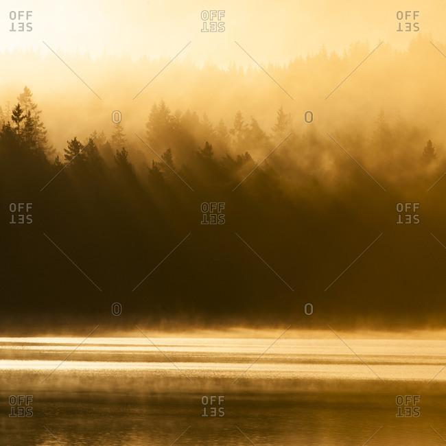 Swedish lake at sunrise
