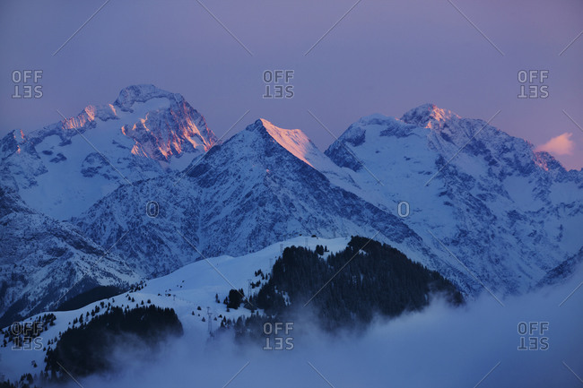 Alps at dusk in France