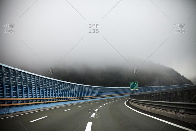 Misty road in Croatia