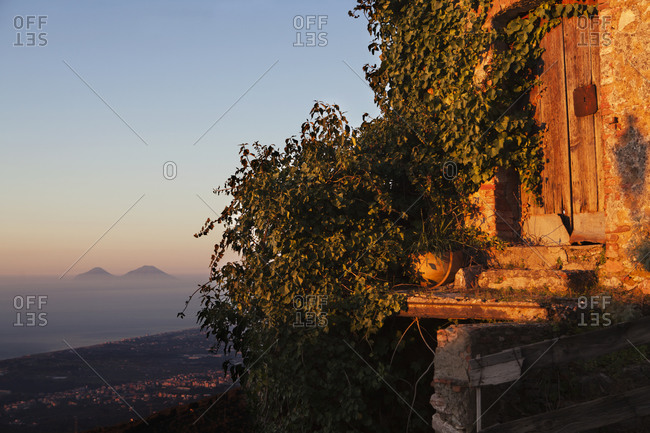 Sicilian building at dusk