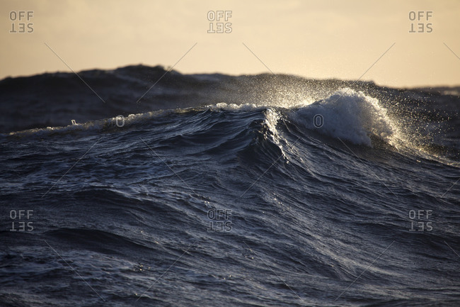 Waves on the Atlantic ocean