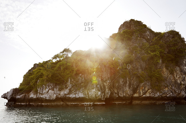 View of a rocky coast in Thailand