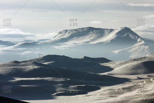Winter mountains in Ammarnas, Lapland, Sweden