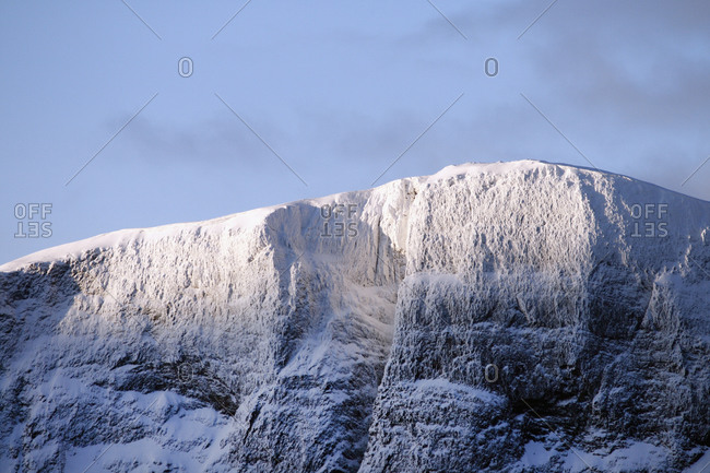 Snowy mountain in Lapland, Sweden