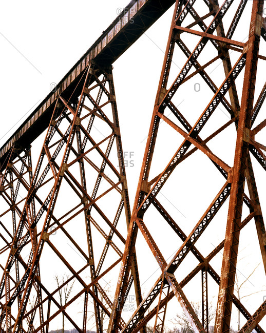 Old rusty bridge in the USA