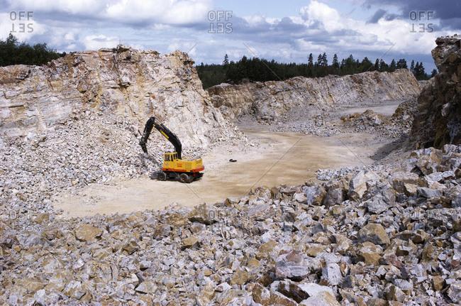 A machine in a quarry