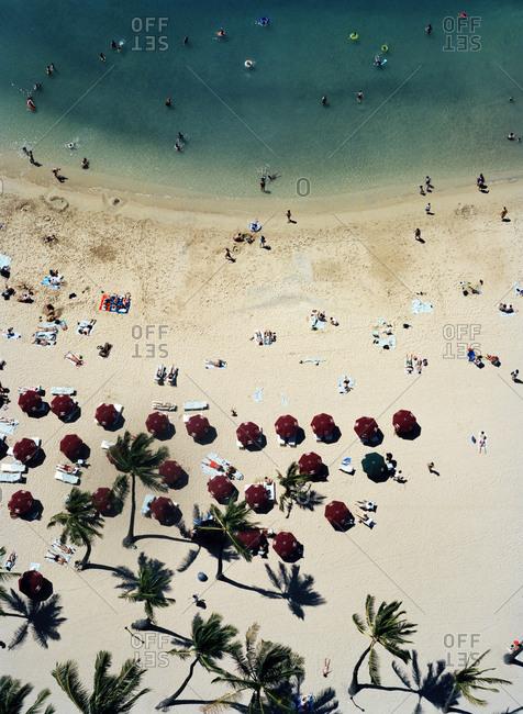 Beach seen from above