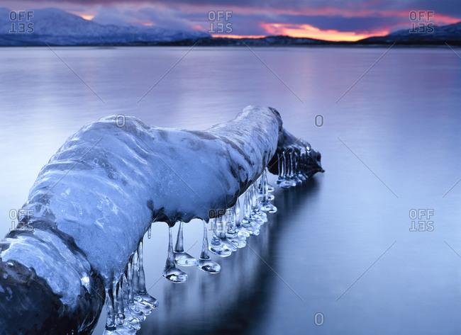 Winter in Tornetrask, Sweden - Offset