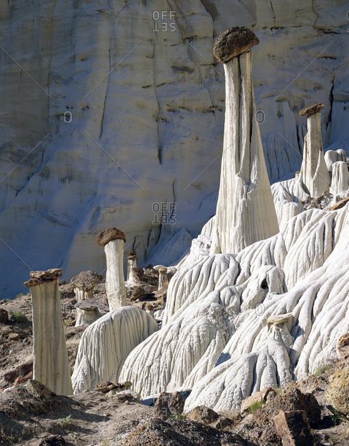 Rock formations in Badlands, Utah, USA