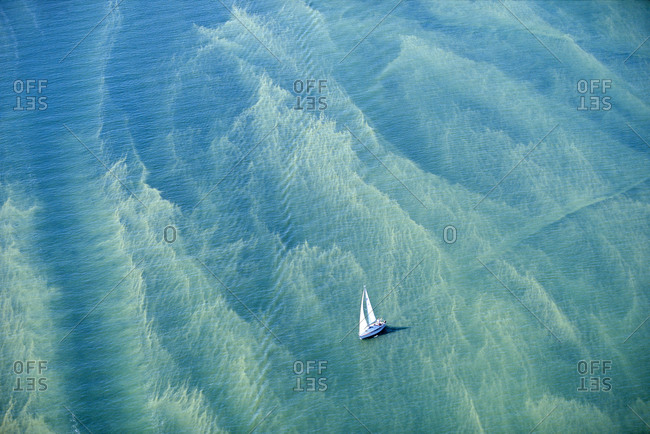 A sailing boat in the ocean in Sweden