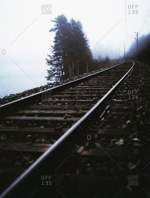 Railway by the sea
