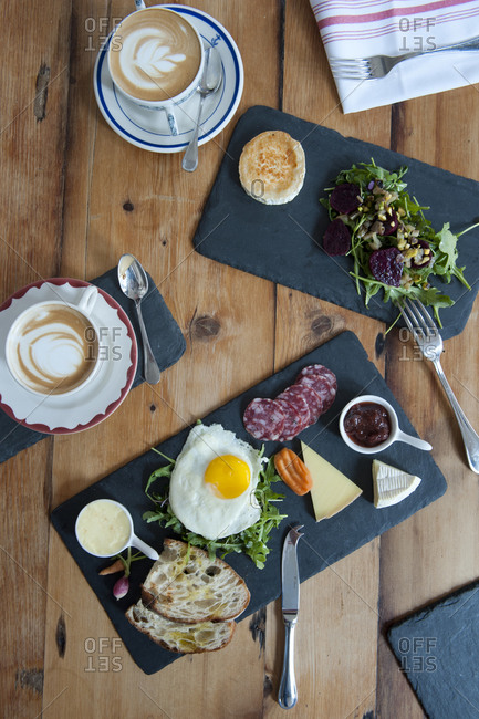 A selection of brunch foods