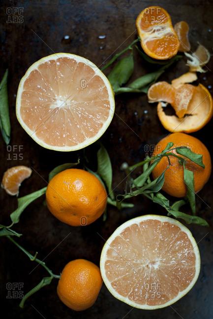Grapefruit and oranges