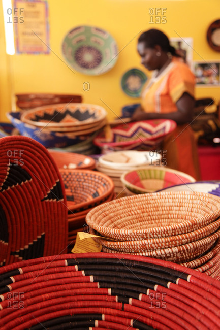 South African baskets at a folk art market in Santa Fe