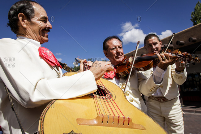 Santa Fe, New Mexico - March 7, 2011: A mariachi band plays during a fiesta in Santa Fe