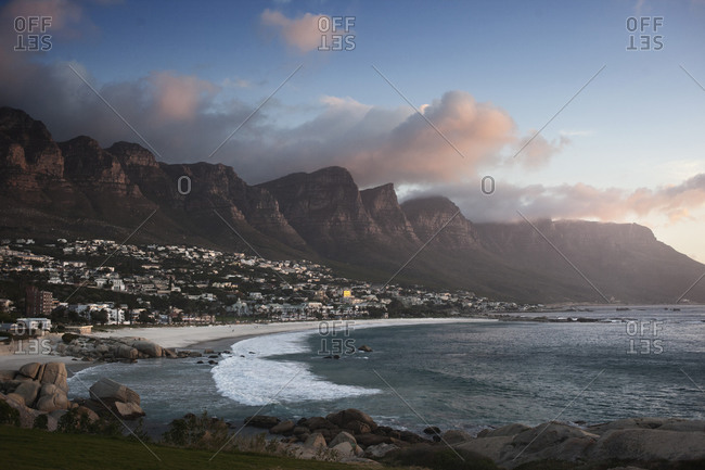 Cape Town, South Africa - Camps Bay Beach.
