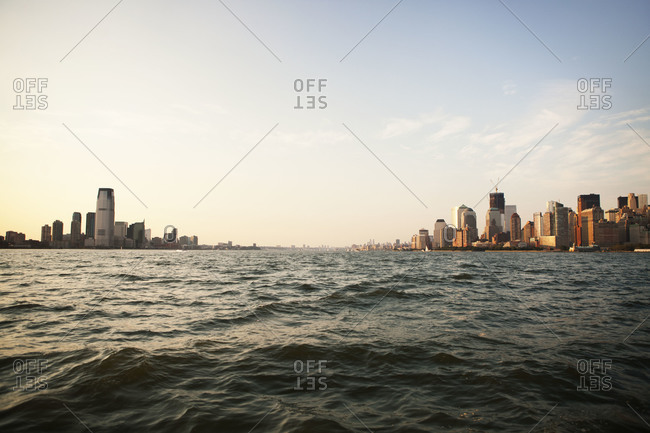 View of Jersey City and New York City from the Hudson