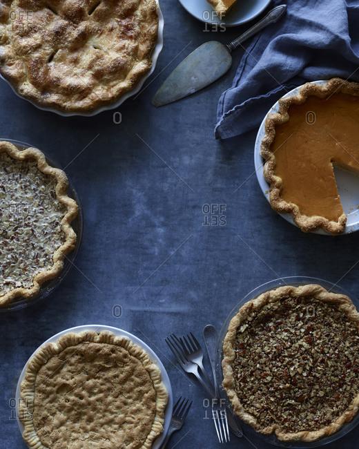 An assortment of pies