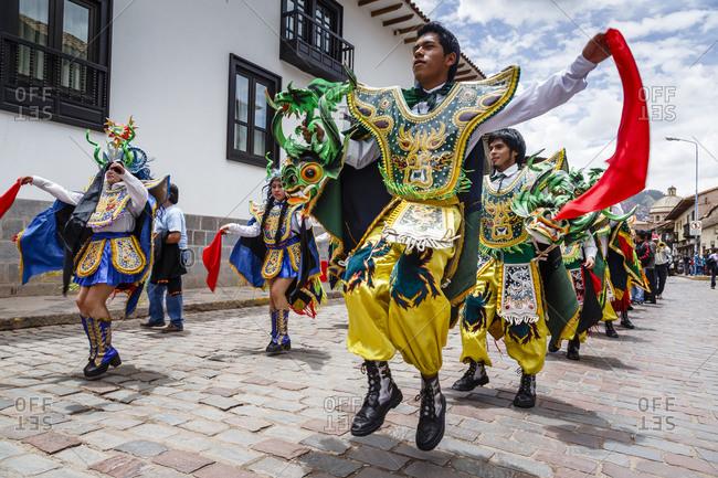 Cuzco, Peru - January 5, 2013: A religious procession in Cuzco, Peru
