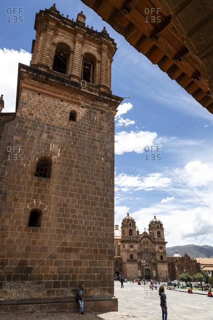 Cuzco, Peru - January 7, 2013: The Cathedral in Plaza de Armas in Cuzco, Peru
