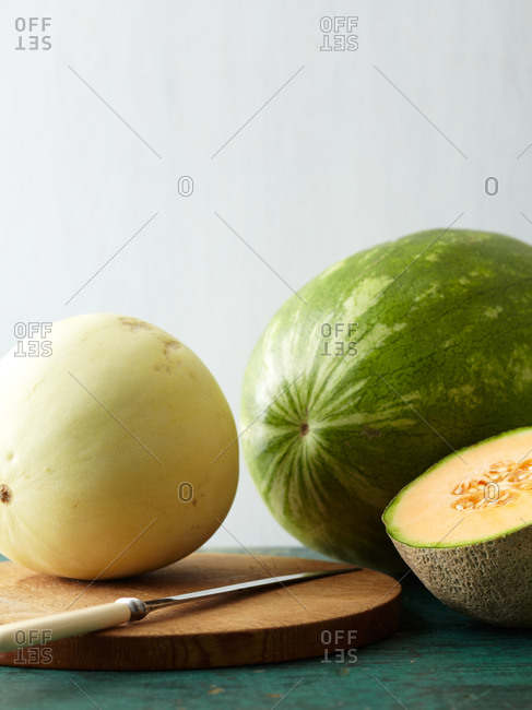 Three types of melons