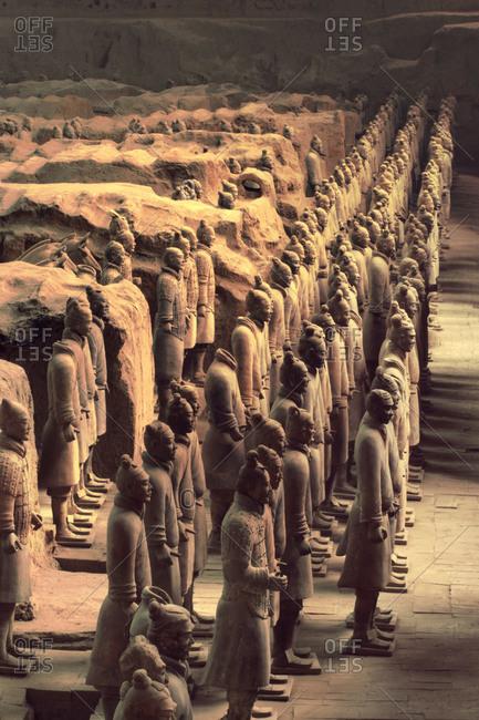 Xian, China - 10/17/2004: Terracotta warriors