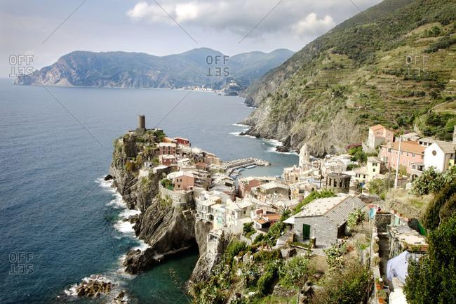 Coast line of Cinque Terry, Italy