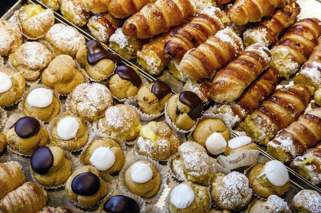 A confectioners pastry tray, Genoa, Liguaria, Italy