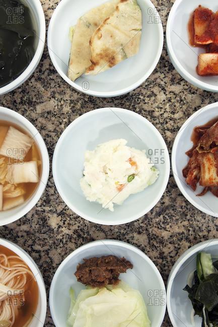 Korean tapas dishes