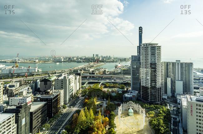 Cityscape with coast, Kobe, Japan