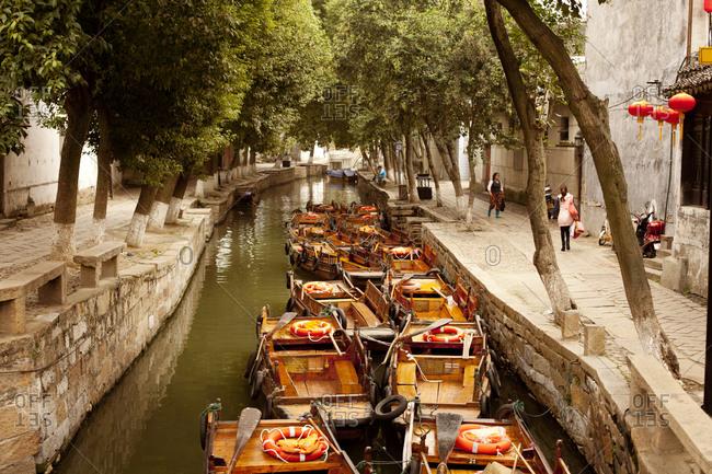 A waterway in Saigon, Vietnam
