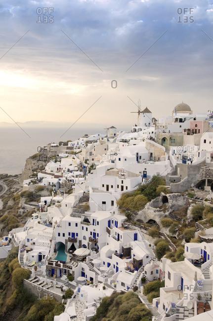 Hilltop view of Santorini