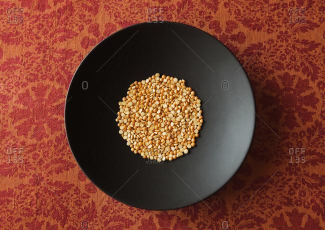 Bowl of yellow split peas
