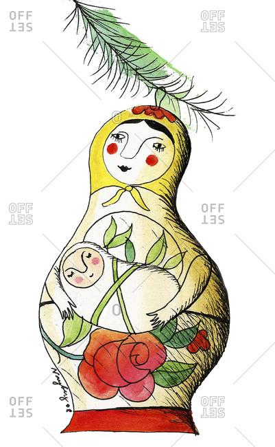 Illustration of Russian nesting dolls