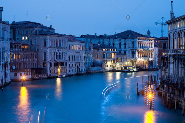 Wide canal in Venice, Italy