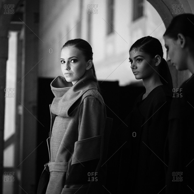 Sibiu, Transylvania, Romania - September 5, 2014: Runway models waiting to go on