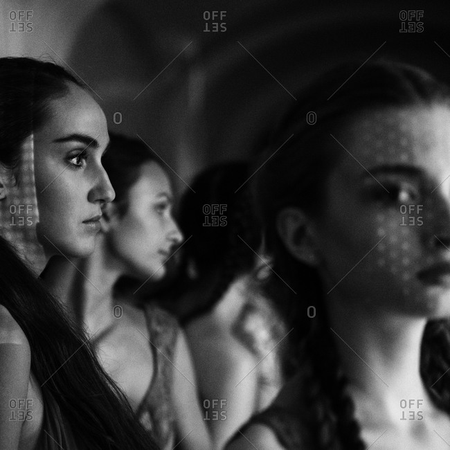 Sibiu, Transylvania, Romania - September 5, 2014: Models backstage ready to go on