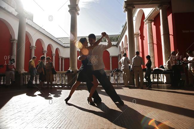 Genoa, Italy - June 3, 2006: A tango festival in Genoa, Italy