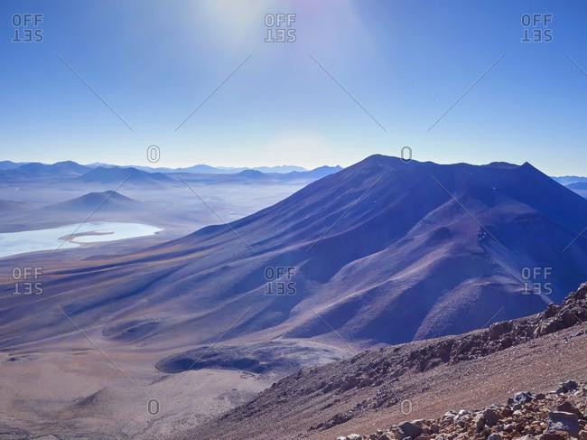 Mountainous area at Salar de Uyuni area, Bolivia