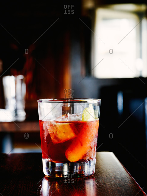 Glass of Vieux Carre cocktail