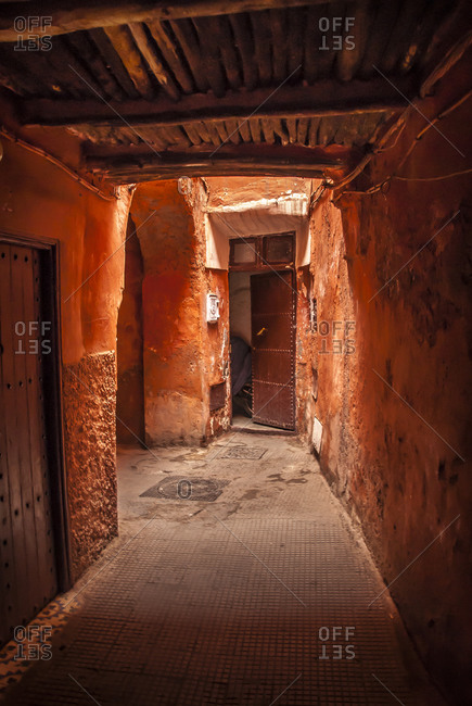 Covered alleyway in Marrakech
