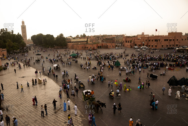Jemaa al Fnaa square in Marrakech