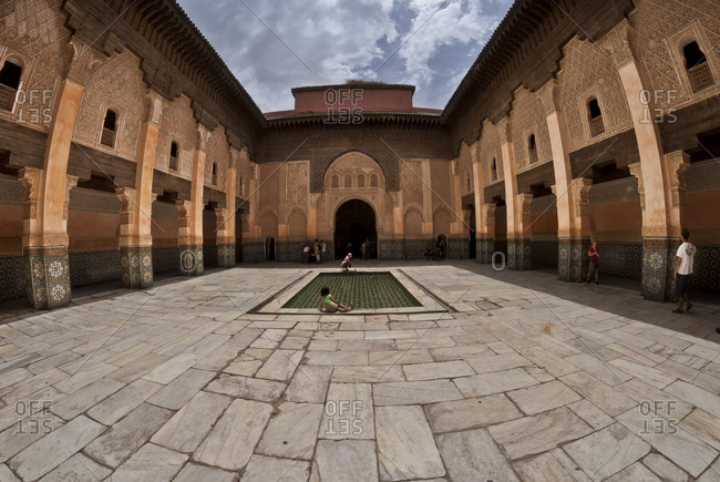 Courtyard of Marrakech university