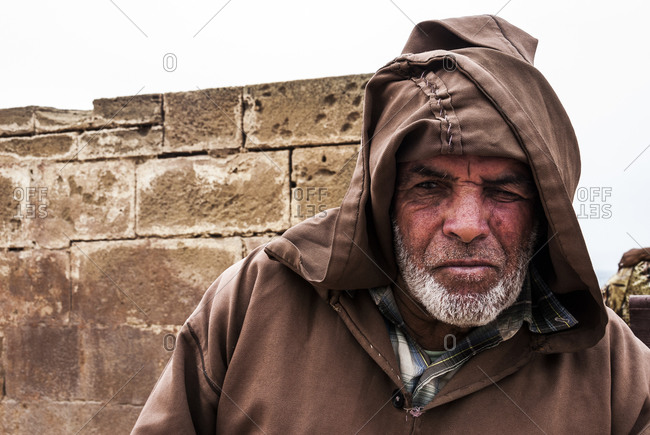 Essaouira, Morocco - August 10, 2010: Old man in Essaouira, Morocca
