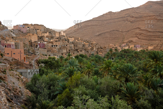 Village in Ameln Valley, Morocco