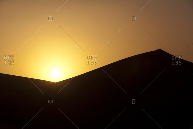 Moroccan desert at sunset