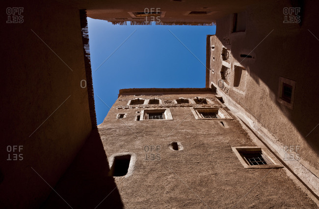 Courtyard of large traditional house in Morocco