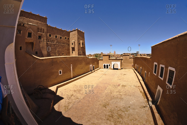 Exterior of large traditional Moroccan house