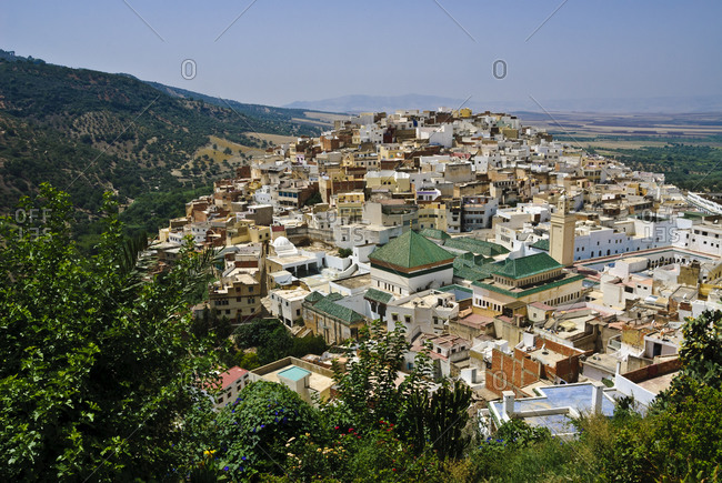 Moulay Idriss town in northern Morocco